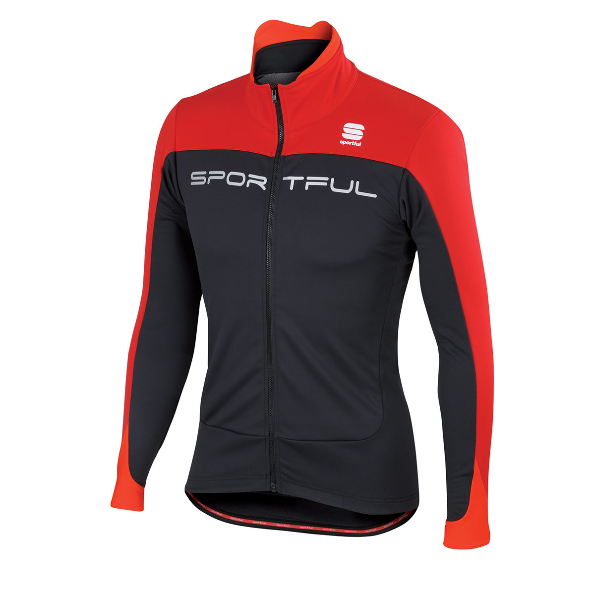 Veste Sportful Flash Softshell - S Noir/Rouge Coupe-vents vélo