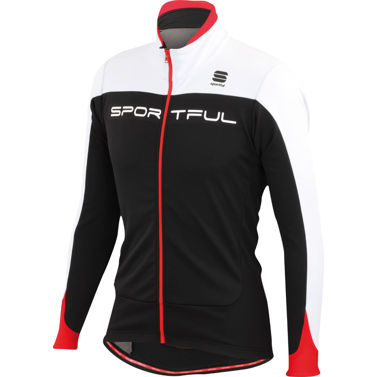Veste Sportful Flash Softshell - M Black/White/Red Coupe-vents vélo