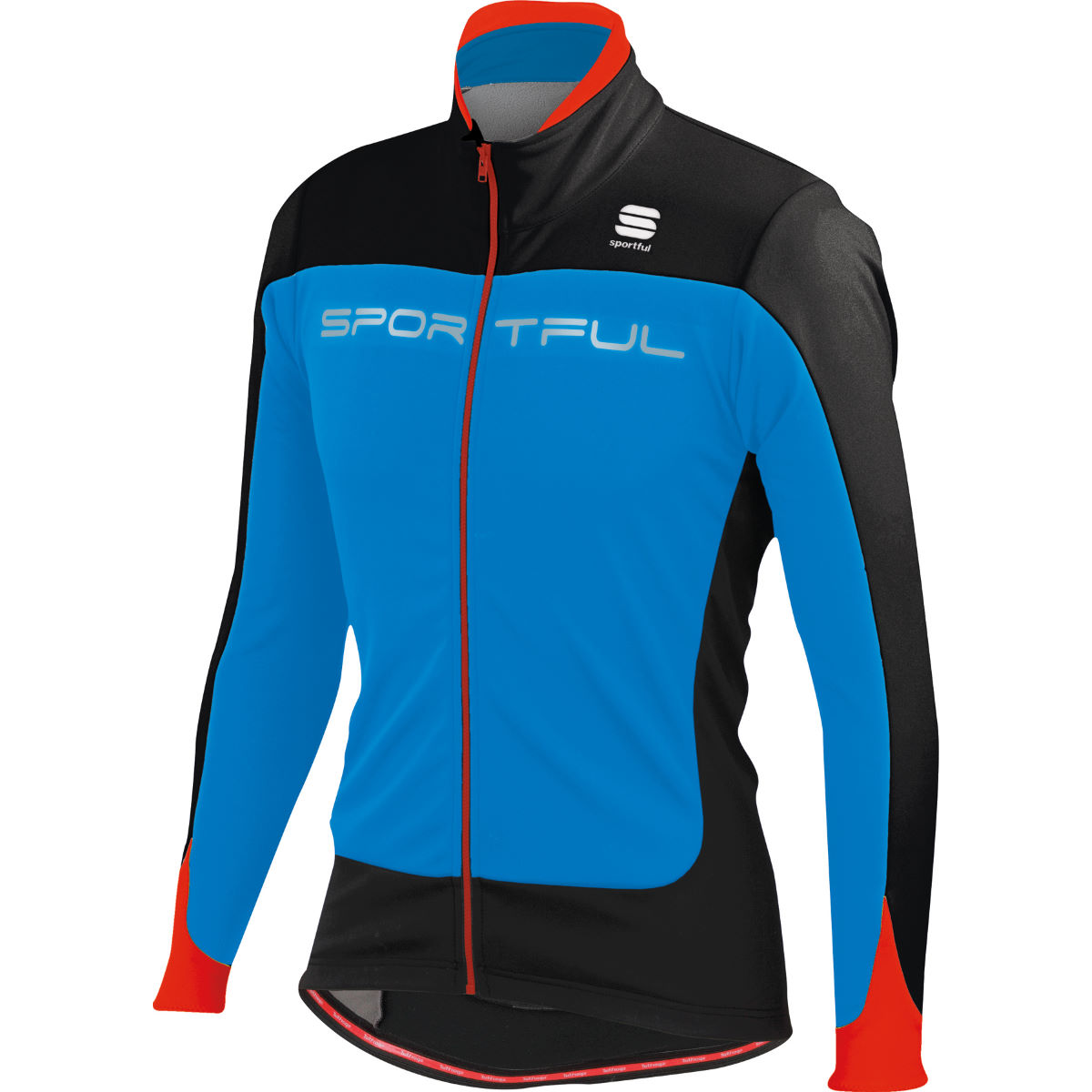 Veste Sportful Flash Softshell - M Blue/Black/Red Coupe-vents vélo