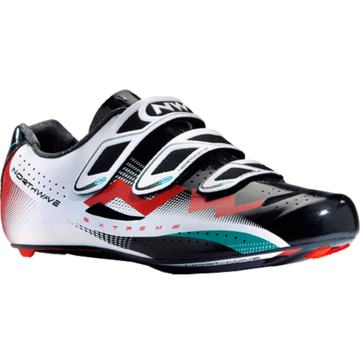 Chaussures Northwave Extreme Tech 3S Route Noires / Blanches / Rouges - 41 Black/White/Red Chaussures de route