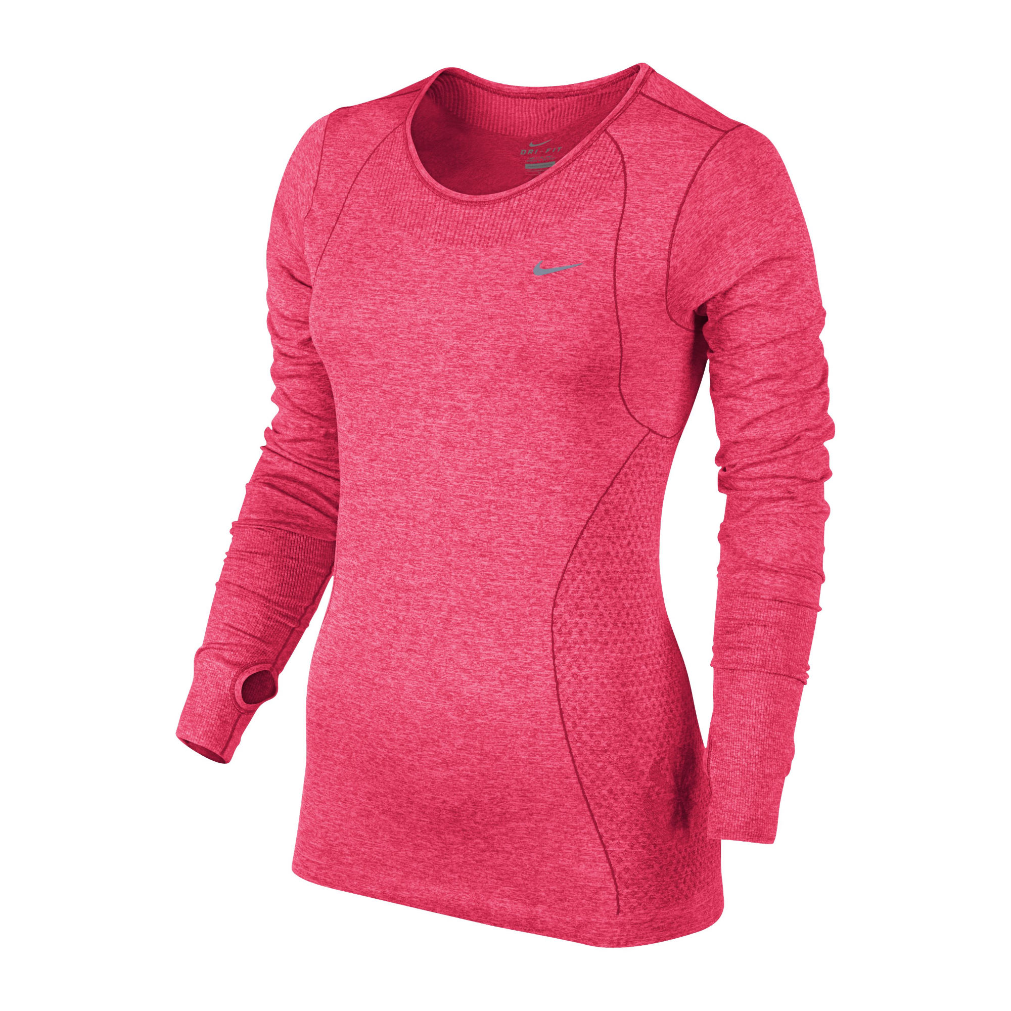 Wiggle nike women 39 s dri fit knit long sleeve ho14 for Women s running shirts