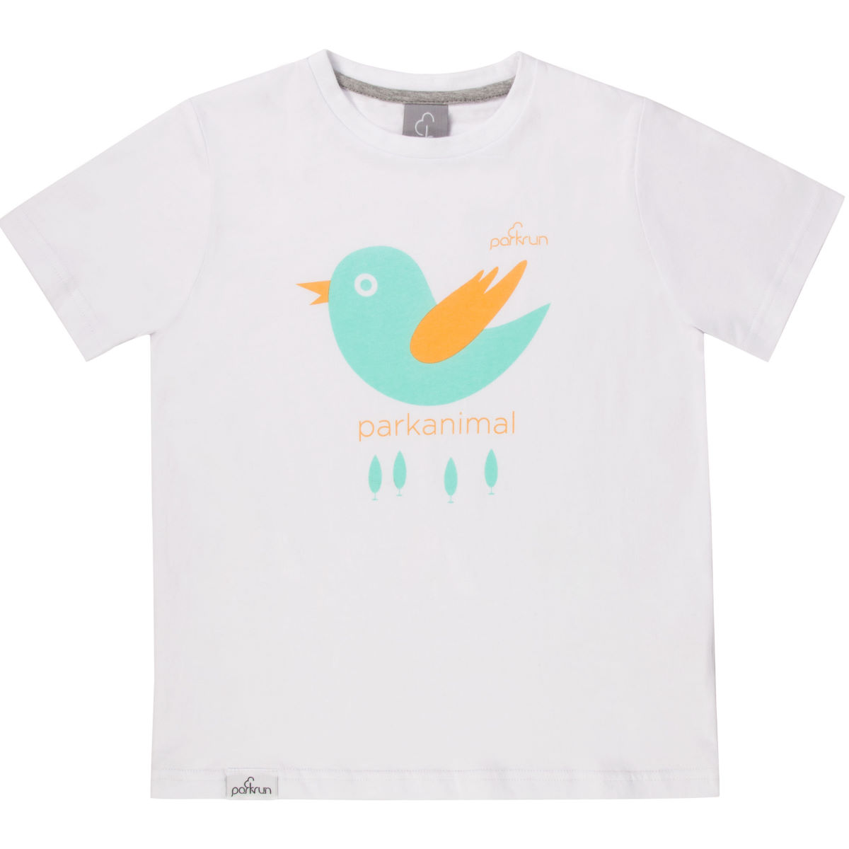 parkrun - Kids Birdie Graphic Tee - 7-8 Years Blanc