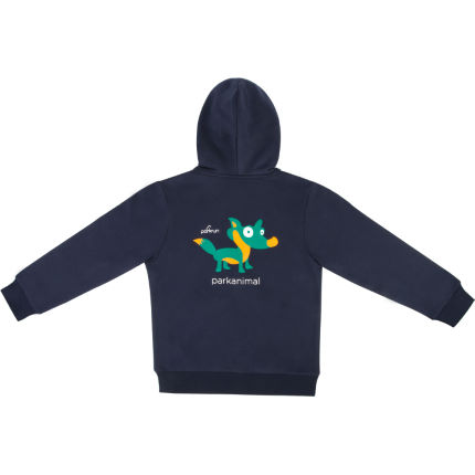 Sweat à capuche Enfant parkrun Fox (zippé)