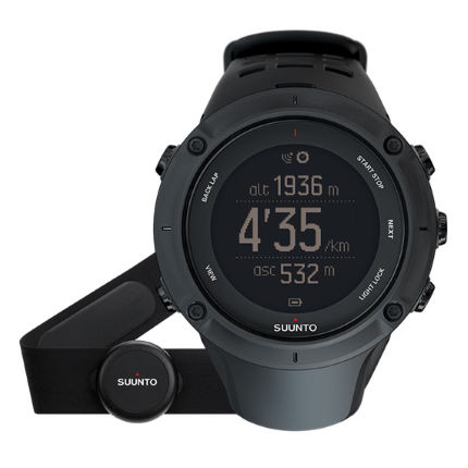 Suunto - Ambit 3 Peak Sort med HRM
