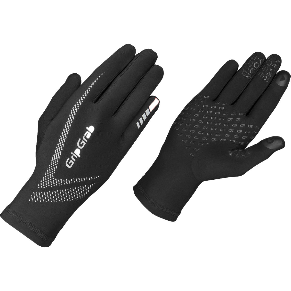 Gants de running GripGrab Ultra Light - S Noir Gants de running
