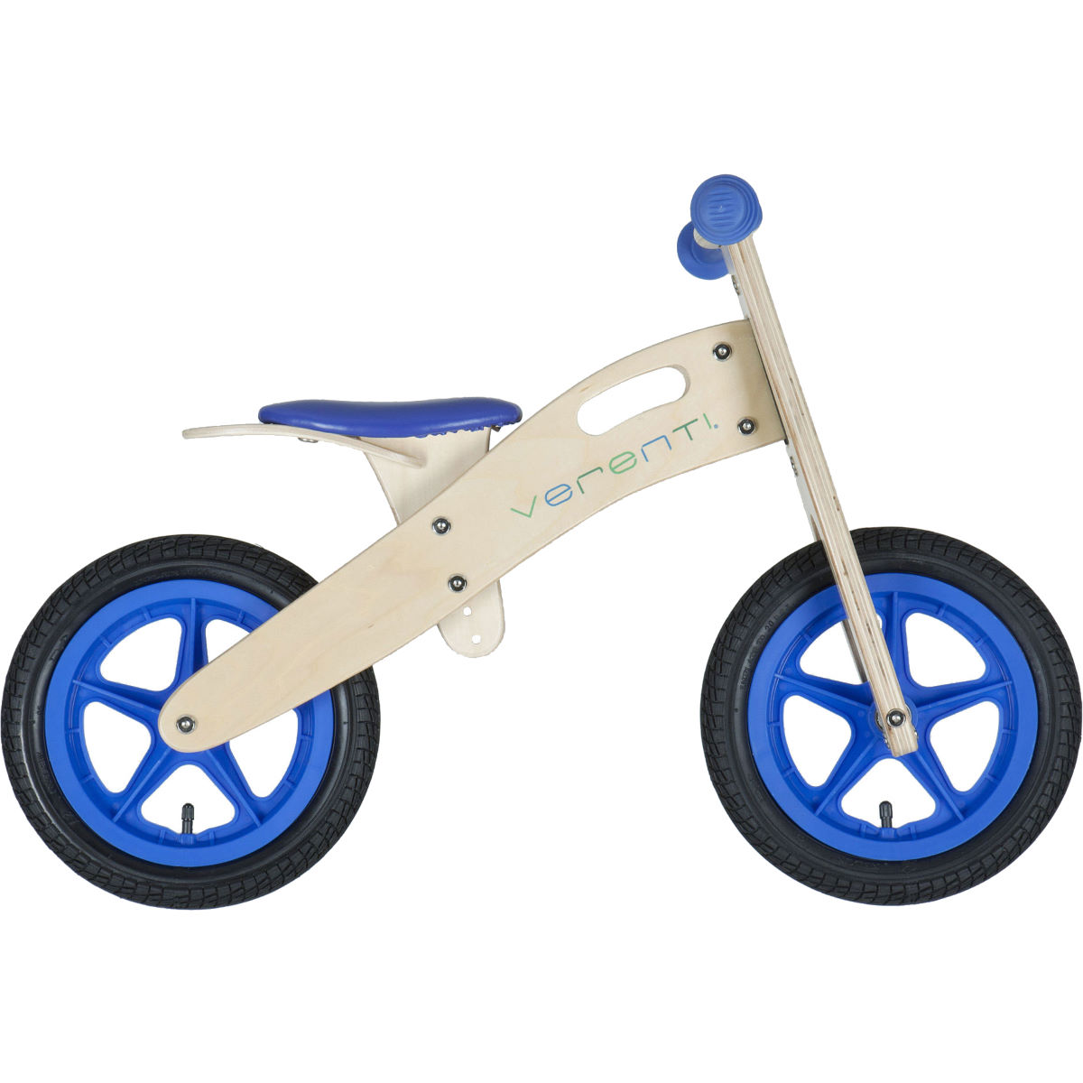 Draisienne Verenti Woody Runner - 12'' wheel Wood/Blue Draisiennes 1 à 5 ans