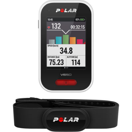 Polar V650 Cycling GPS Computer with HRM