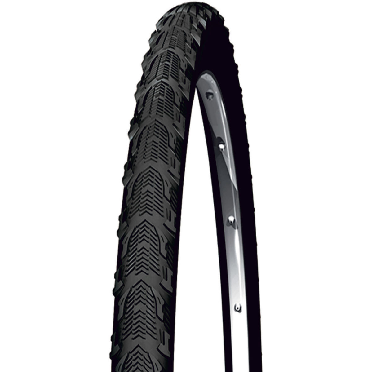 Pneu cyclo-cross Michelin Cyclocross Jet (souple) - 700 x 30c Noir