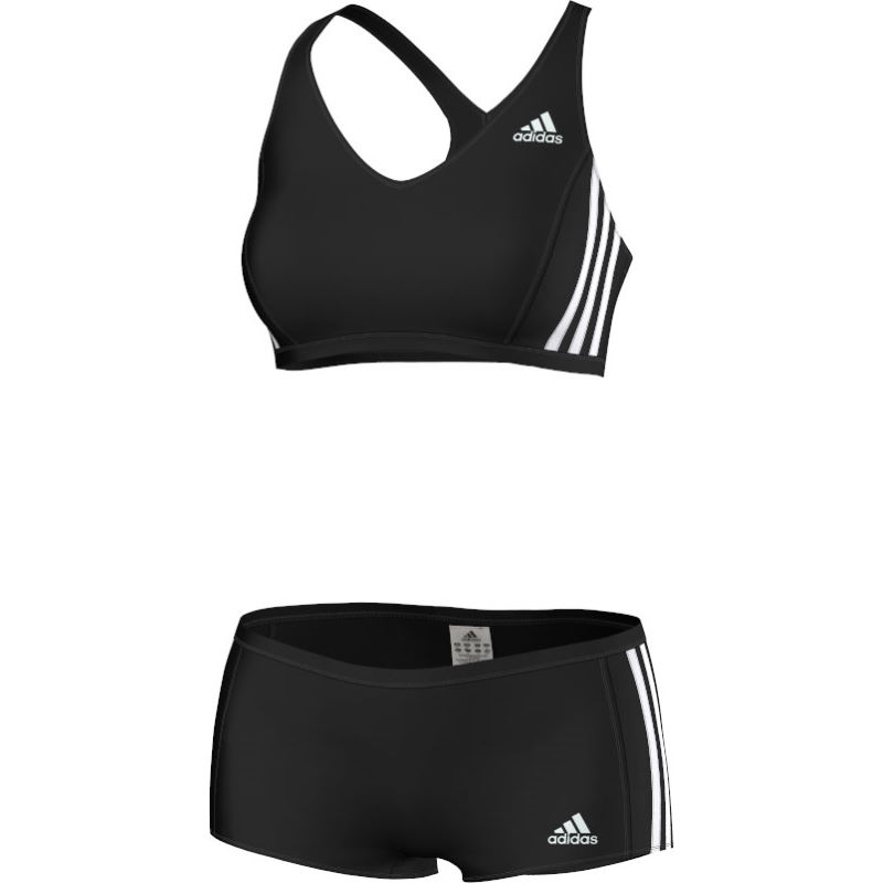 maillots de bain femme adidas women 39 s three stripes two piece swimsuit ss15 wiggle france. Black Bedroom Furniture Sets. Home Design Ideas