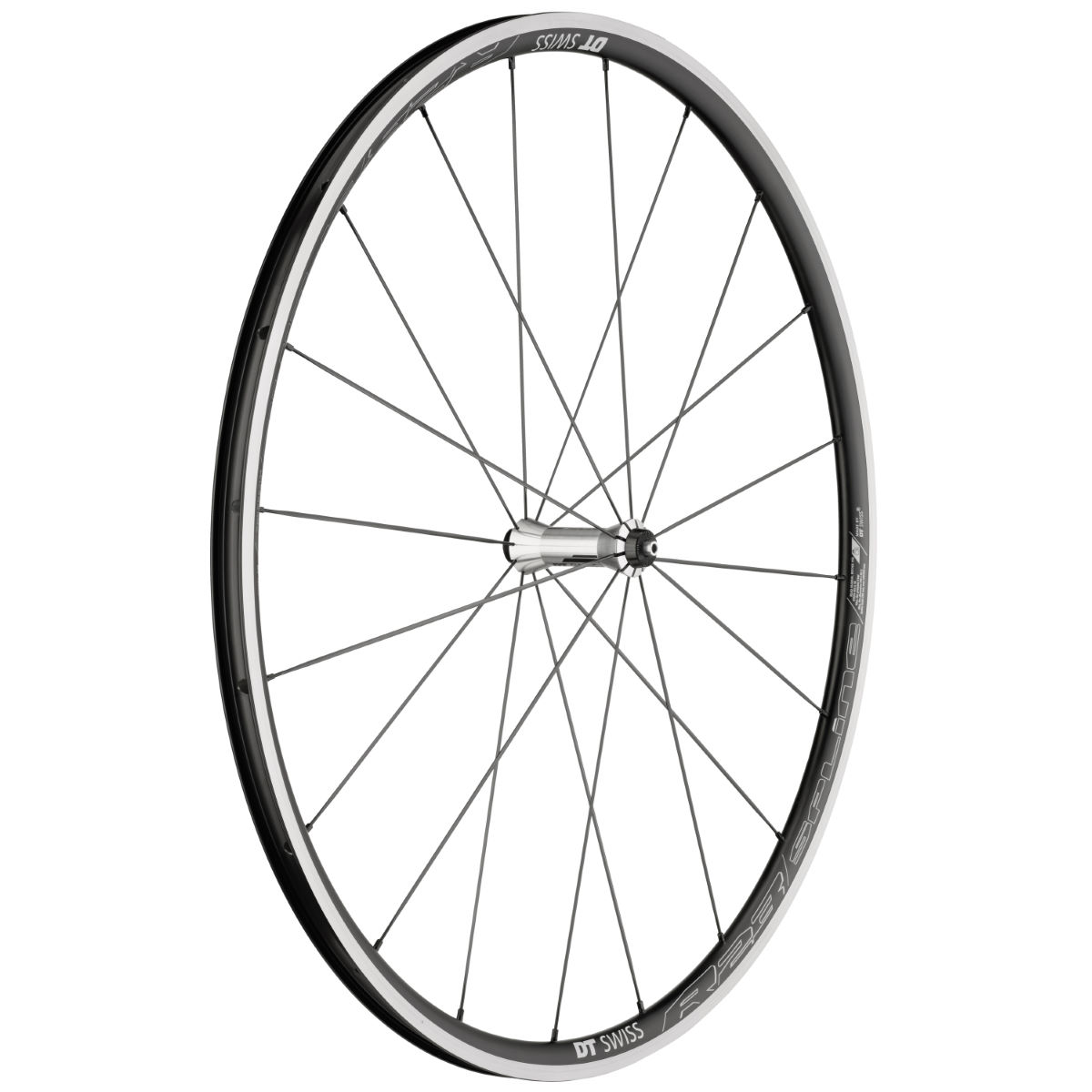 Roue avant DT Swiss R23 Spline (alliage) - 700c - Clincher Noir/Gris Roues performance