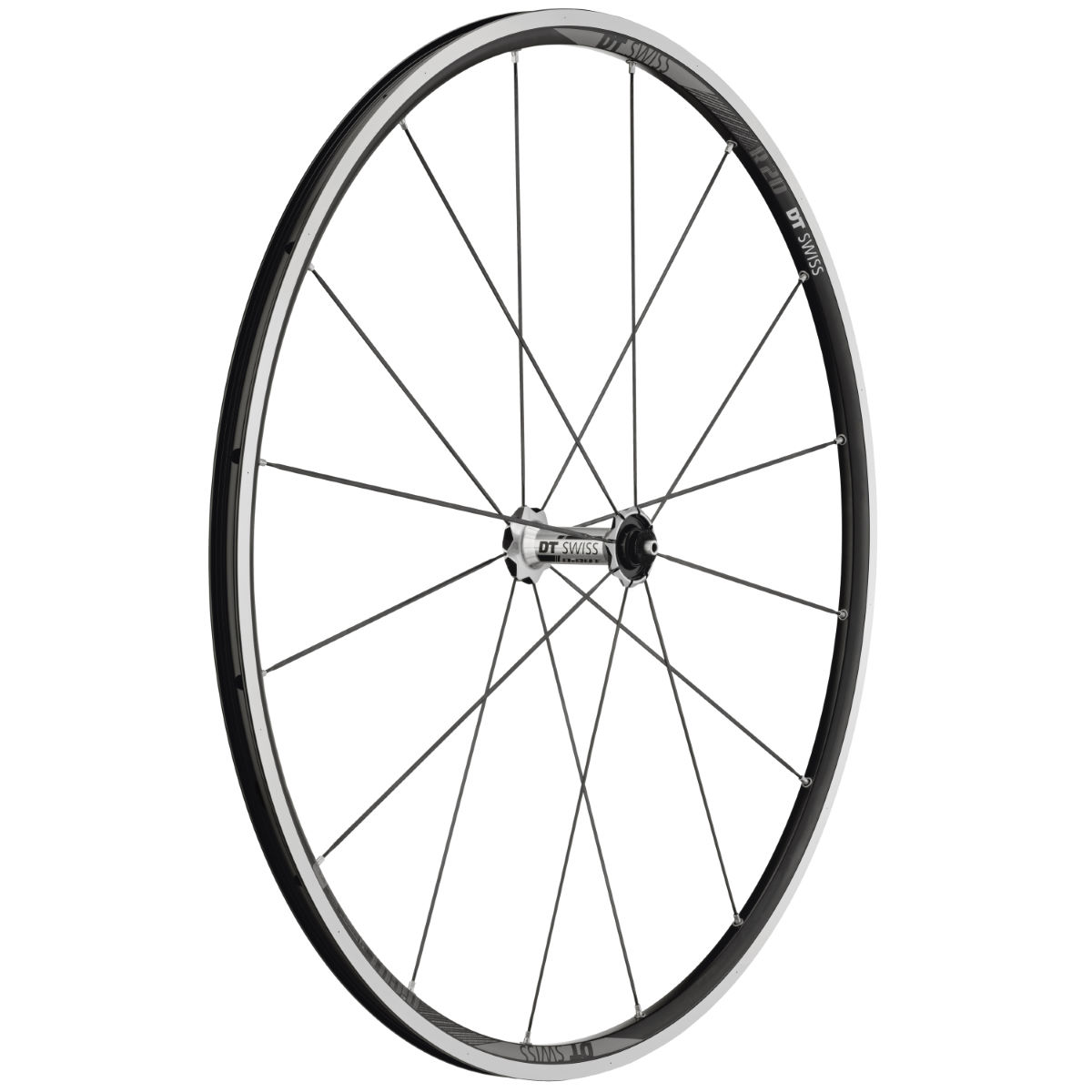 Roue avant DT Swiss R20 Dicut (alliage) - 700c - Clincher Noir/Gris Roues performance