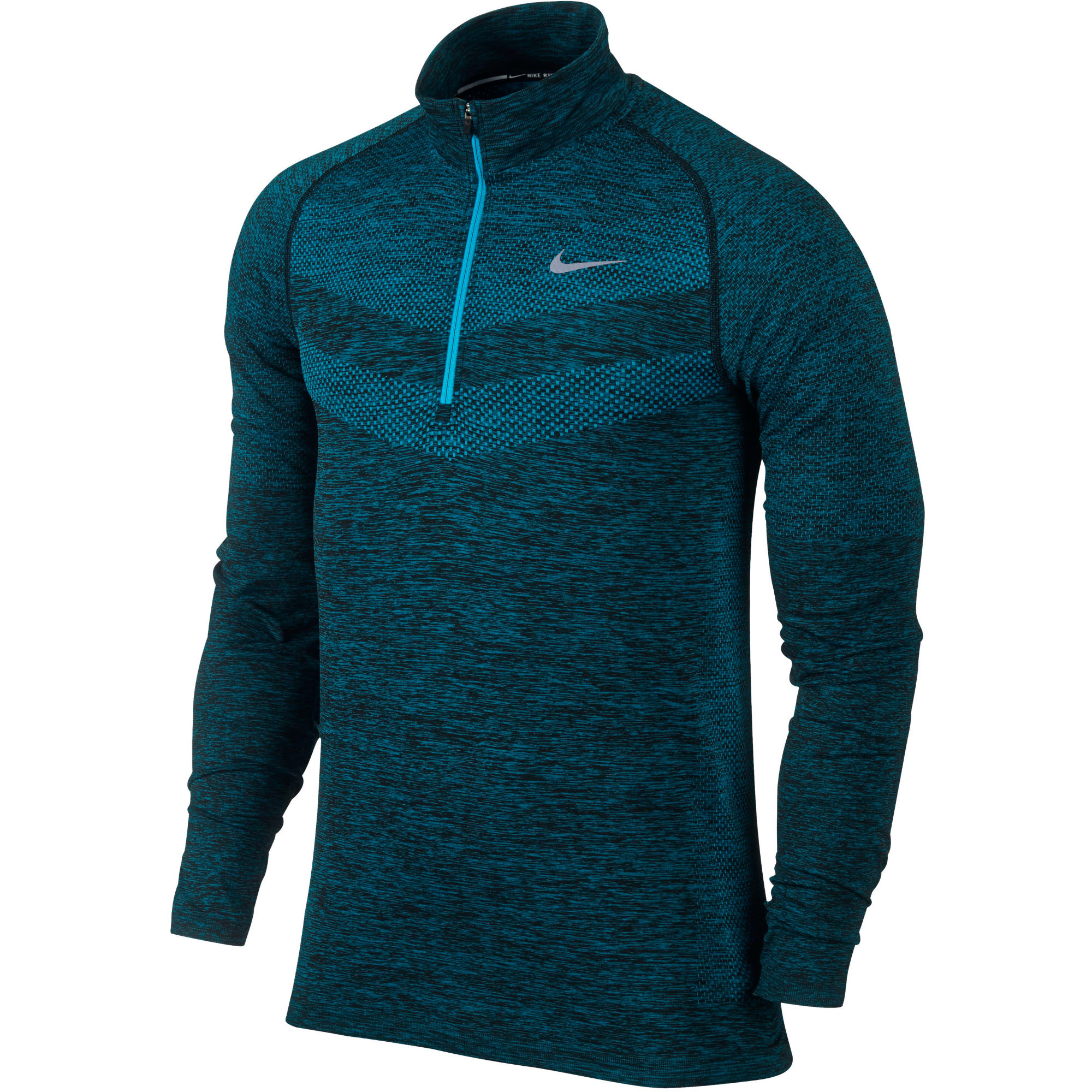 Wiggle nike dri fit knit 1 2 zip top sp15 long for Under armour dri fit long sleeve shirts