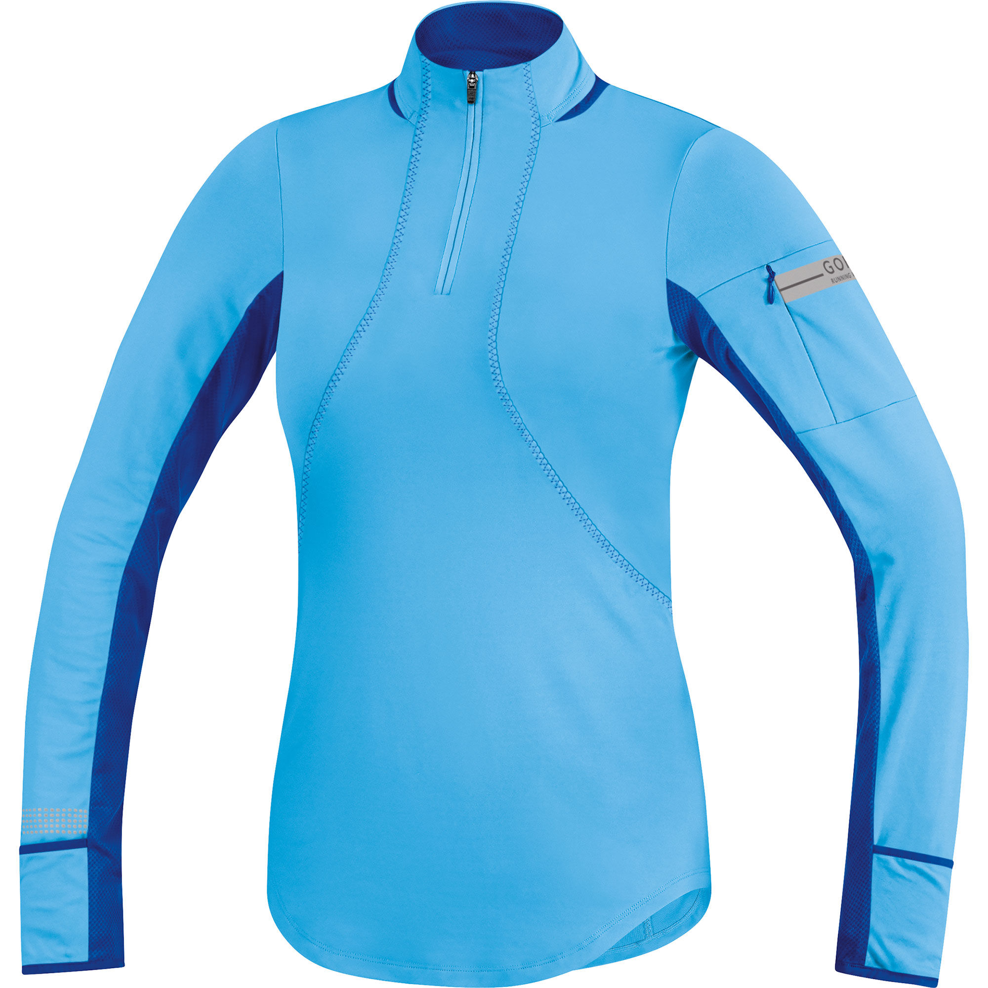 Wiggle gore running wear women 39 s air zip long sleeve for Women s running shirts