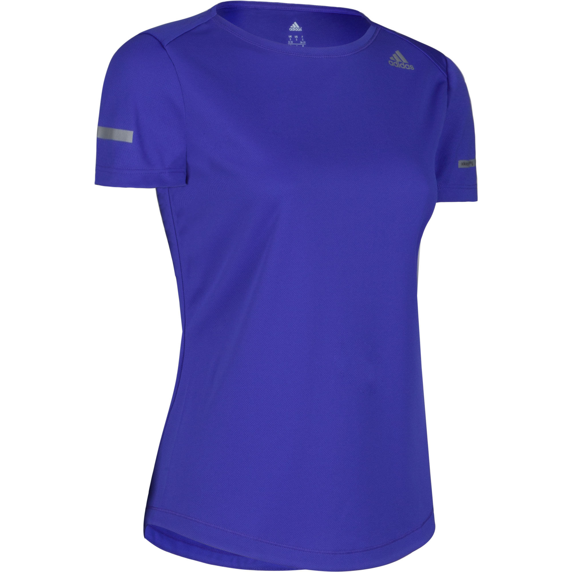 Wiggle adidas women 39 s run tee ss15 running short for Women s running shirts