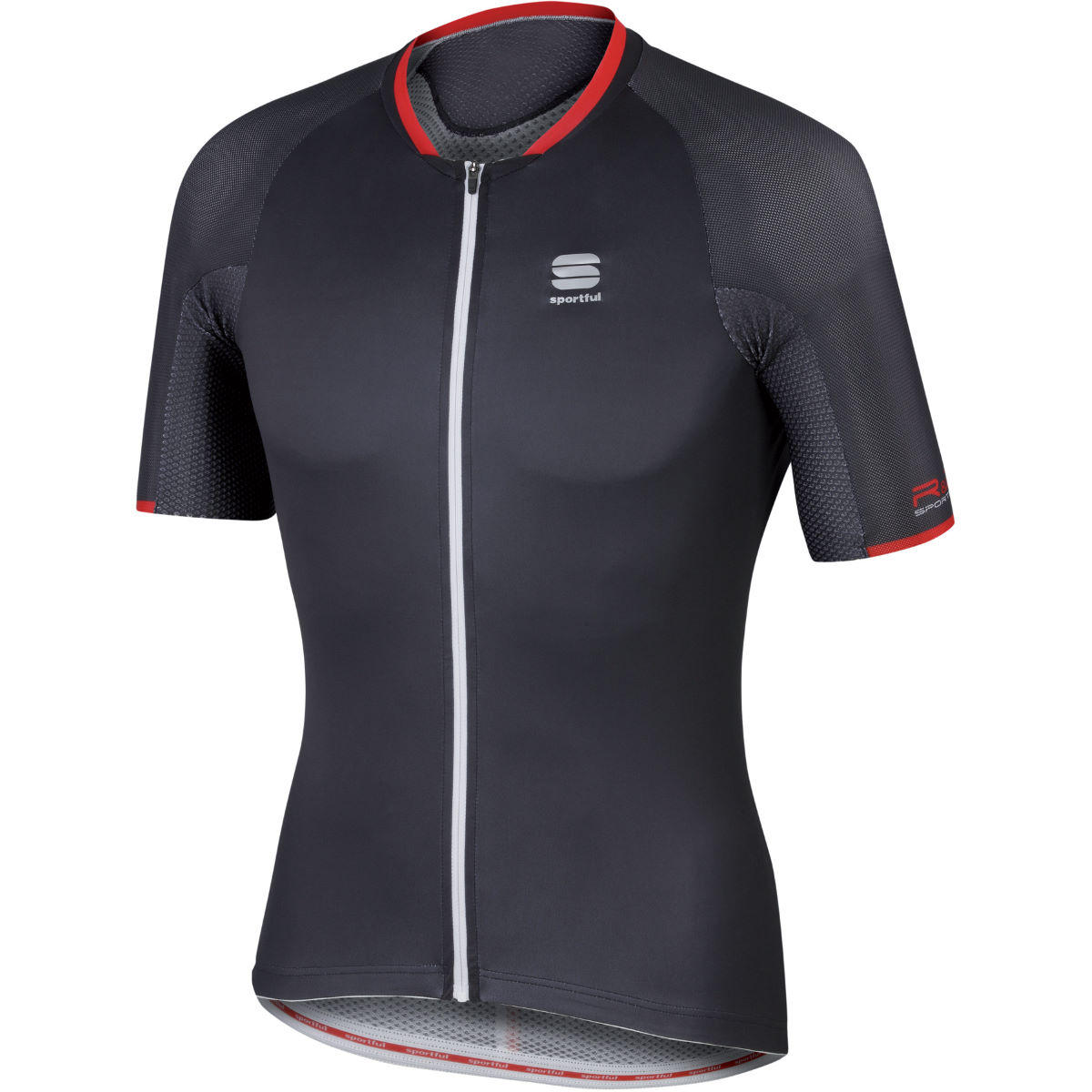 Maillot Sportful R & D Speed Skin - XXL Noir/Anthracite Maillots vélo à manches courtes