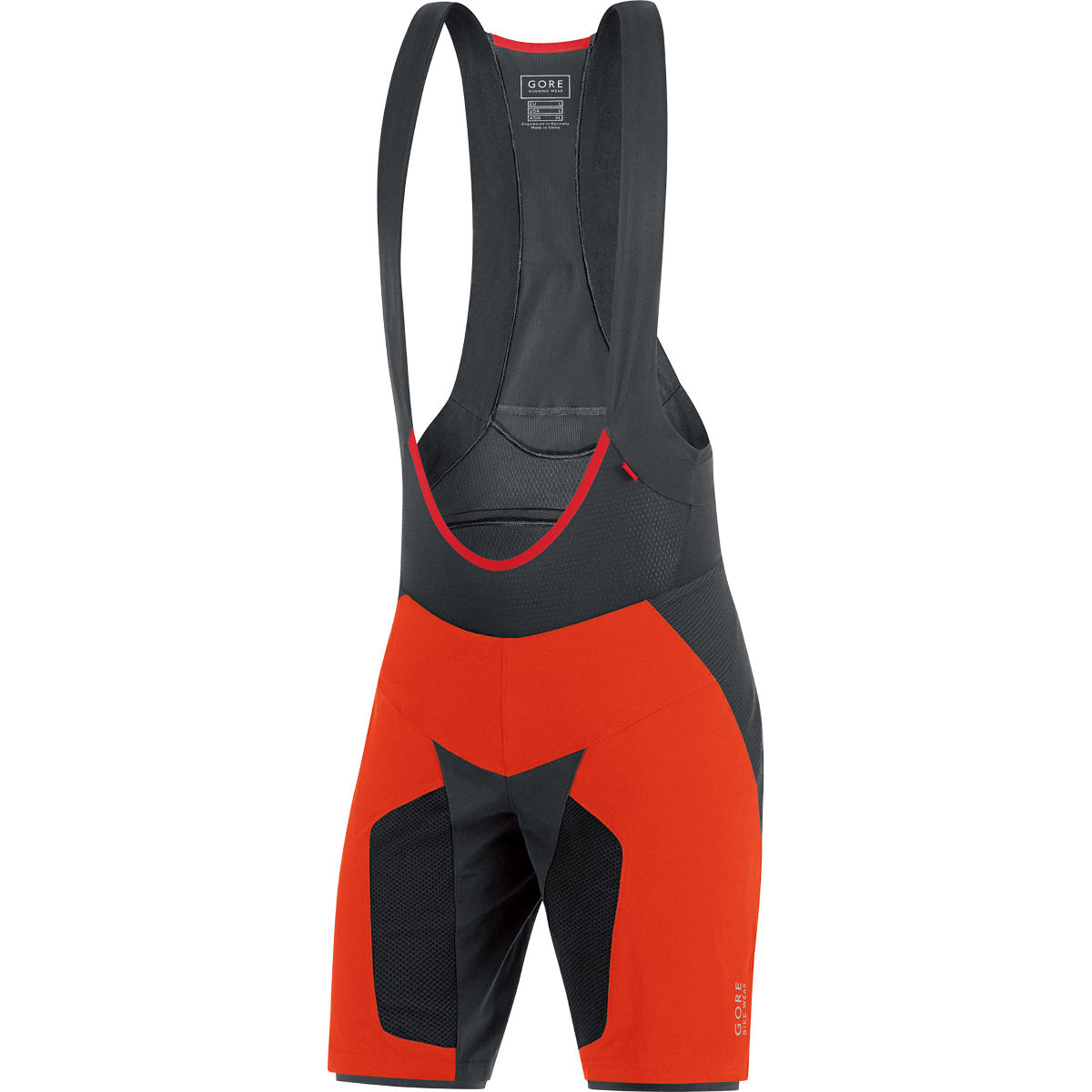 Short à bretelles Gore Bike Wear Alp-X Pro+ (2 en 1) - L Orange Cuissards en lycra