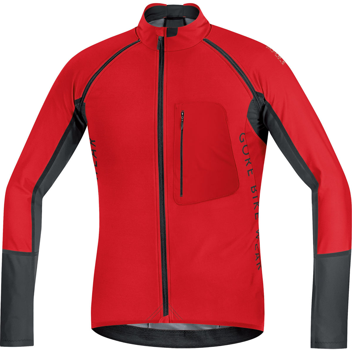 Veste Gore Bike Wear Alp-X Pro Windstopper Softshell (zippée) - XXL Rouge/Noir Coupe-vents vélo