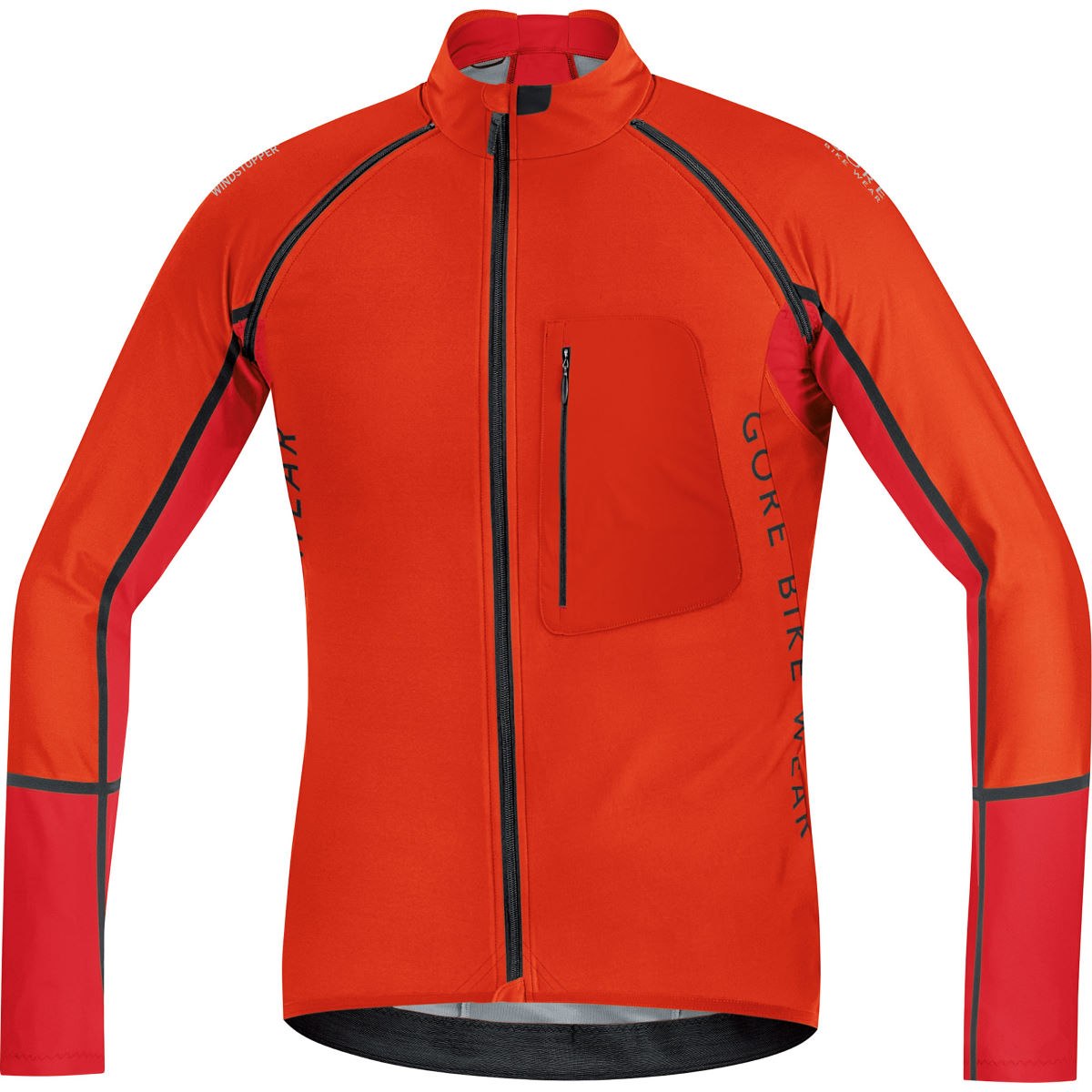 Veste Gore Bike Wear Alp-X Pro Windstopper Softshell (zippée) - XL Orange/Black Coupe-vents vélo