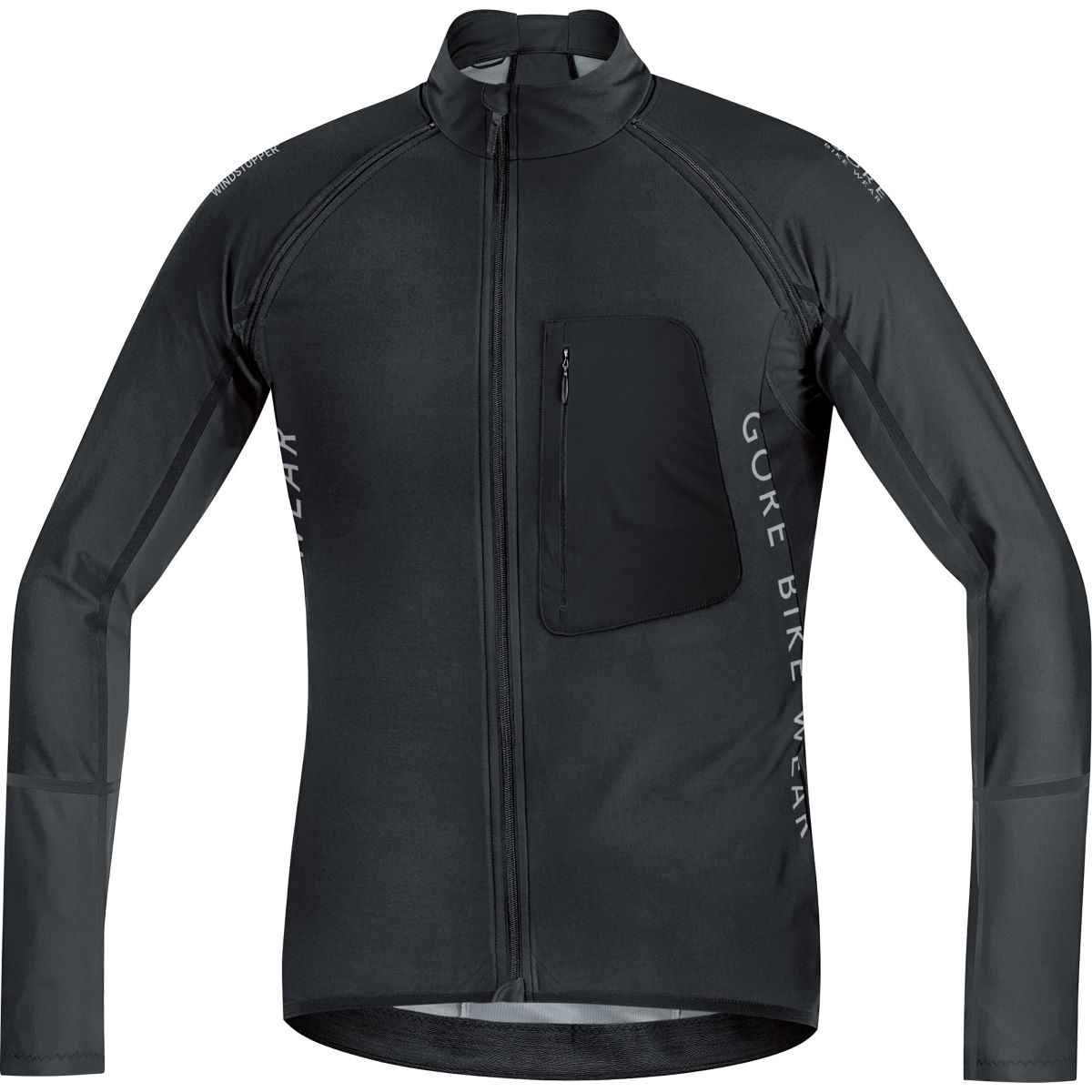Veste Gore Bike Wear Alp-X Pro Windstopper Softshell (zippée) - L Noir/Noir Coupe-vents vélo