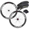 Zipp 404 Firecrest Carbon Clincher Wheels/Tyre Bundle