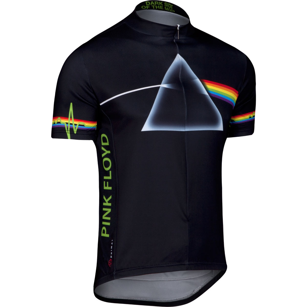 Maillot Primal Pink Floyd Dark Side - S Black/White/Rainbow Maillots vélo à manches courtes