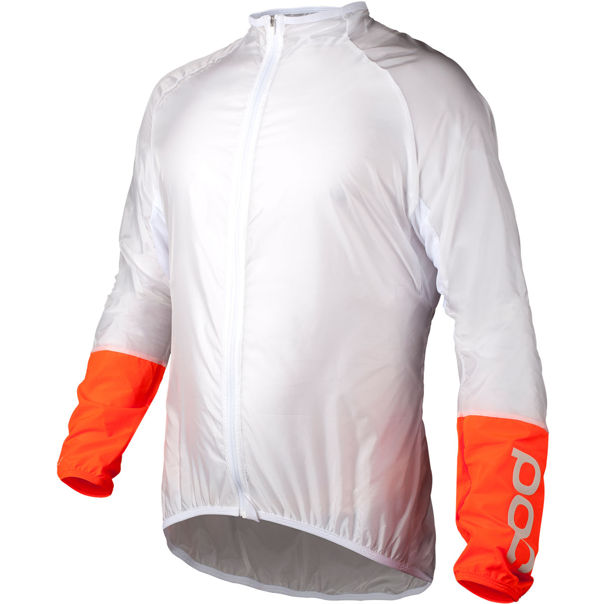 Veste POC Essential AVIP Light Wind - S White/Zink Orange Coupe-vents vélo