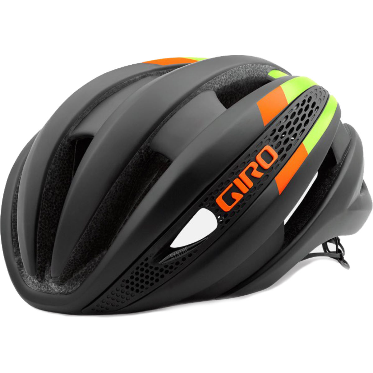 Casque Giro Synthe - Medium 55-59cm Noir/Jaune fluo Casques de route