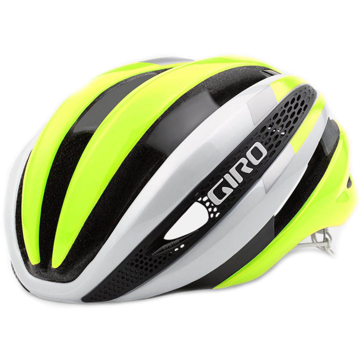 Casque Giro Synthe - Small 51-55cm White/Yellow Casques de route