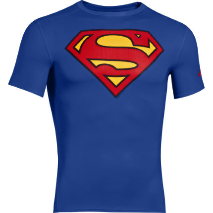 Under Armour Alter Ego Superman Kompressionsshirt (F/S 15, kurzarm)