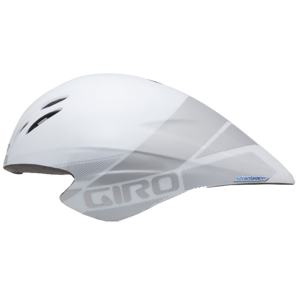 Casque de contre-la-montre Giro Advantage 2 - Small 51-55cm Blanc/Argenté Casques de route