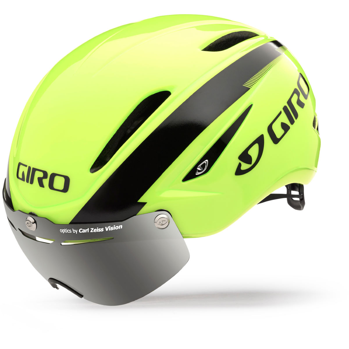Casque de route Giro Air Attack Shield (2015) - Small 51-55cm Jaune/Noir Casques de route