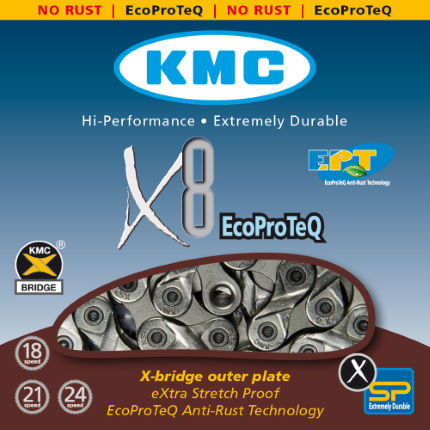 KMC - X8 EPT 8 Speed ​​kæde