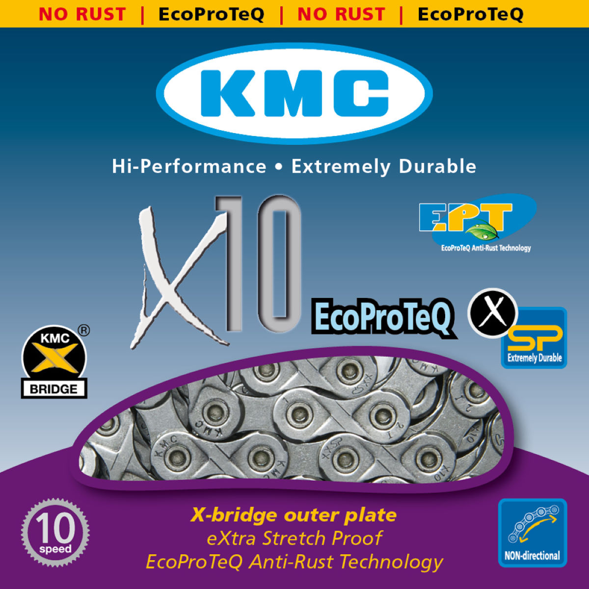 KMC X10 Ept 10 Speed Chain