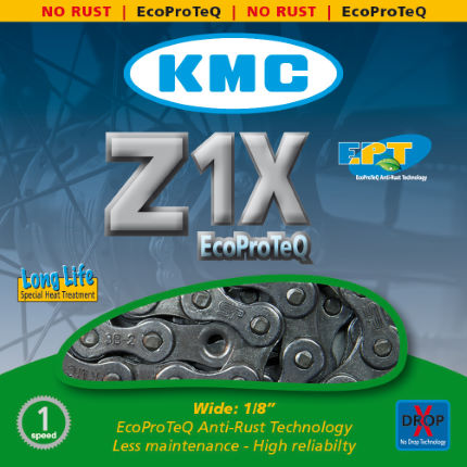 KMC - Z1X EPT Single Speed ​​Chain