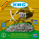 KMC X101 Single Speed Chain Silver 110 Links