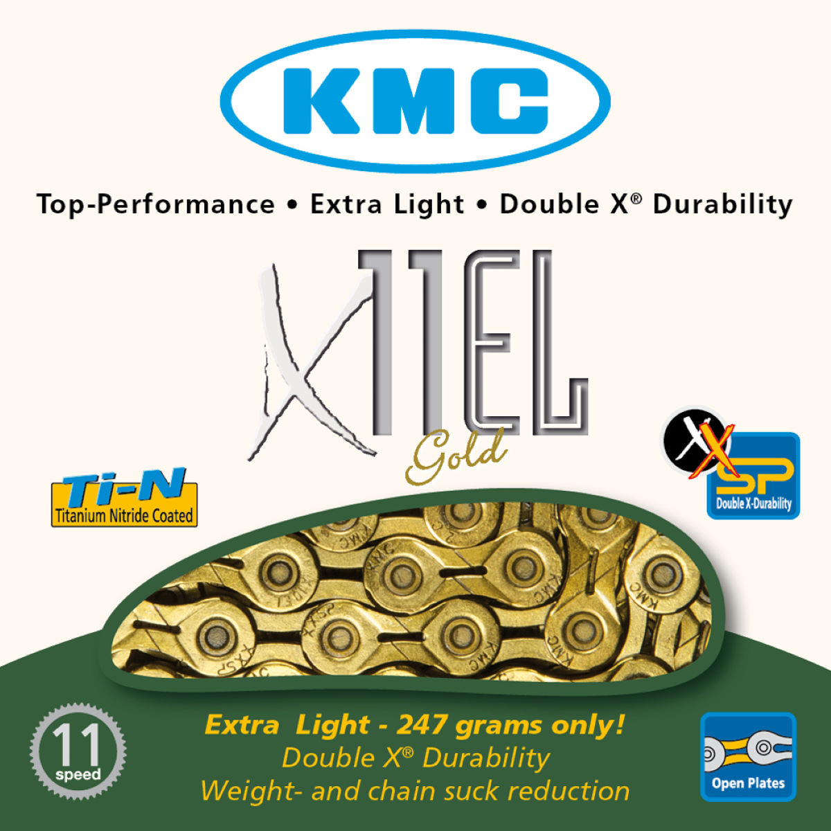 KMC X11-EL 11 Speed Chain (Gold)