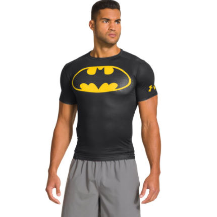 Under Armour Alter Ego Compression Top Batman Yellow