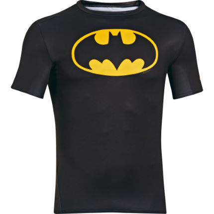T-Shirt Under Armour Alter Ego Batman (logo giallo/nero, a compressione)