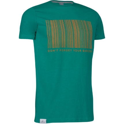 parkrun Barcode Graphic Tee - Pepper Green