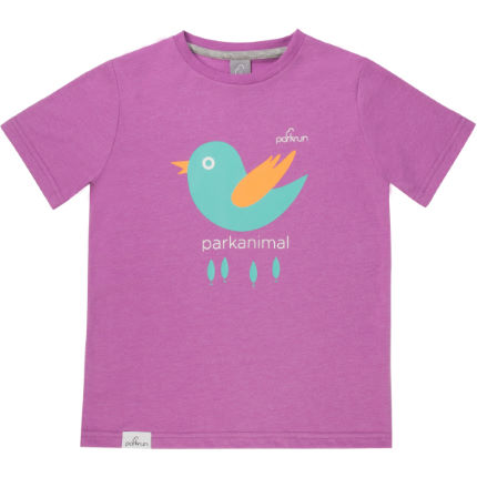 parkrun - Birdie Graphic T-shirt Radiant Orchid - Junior
