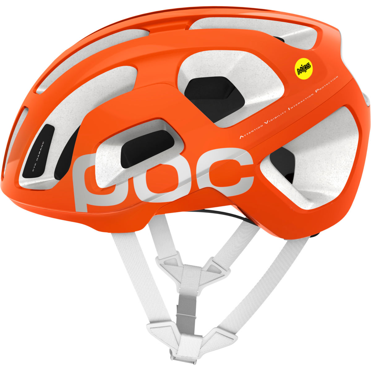 Casque de route POC Octal AVIP MIPS - M Zinc Orange/White