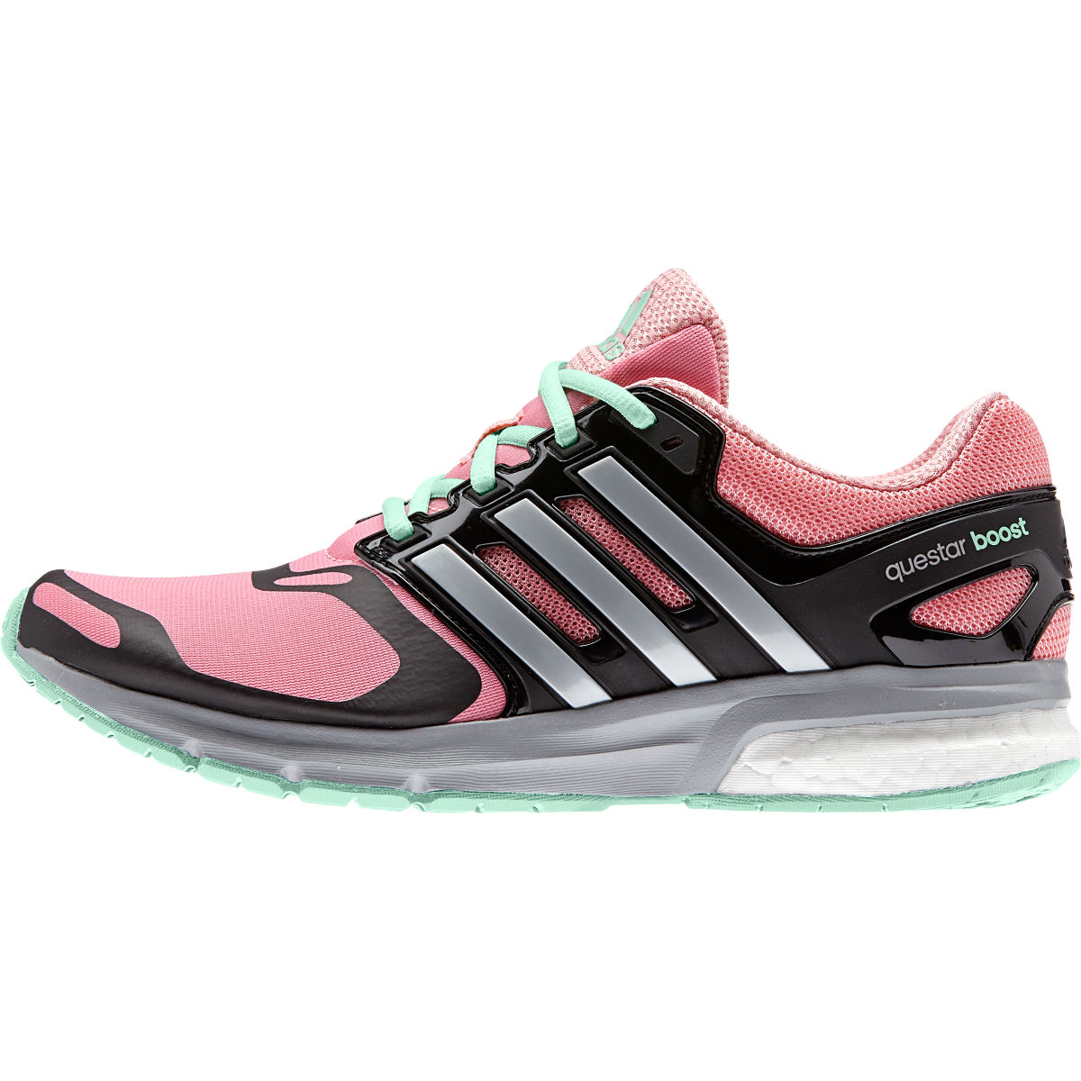 Chaussures Femme Adidas Questar Boost TF (AH15) - 8 UK Pop/Silver/Green Chaussures de running amorties