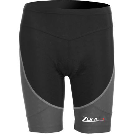 Zone3 Women's Aquaflo Tri Shorts Grey / Red