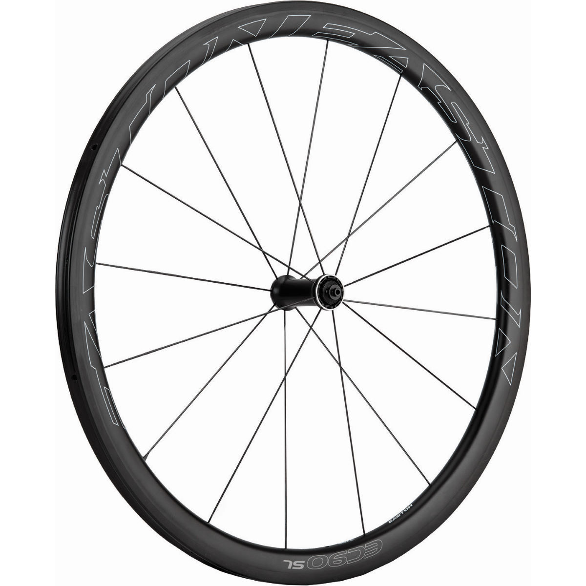 Roue avant Easton EC90 SL Carbon Tubeless - 700c Noir