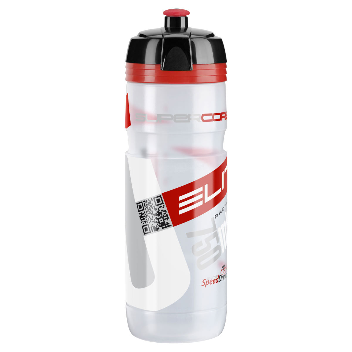 Bidon d'eau Elite SuperCorsa (750 ml) - 750ml Clear/Red Logo