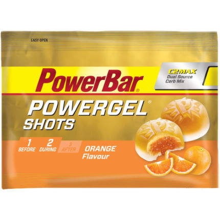 Sachets PowerBar PowerGel Shots (goût orange, 16 x 60 g)