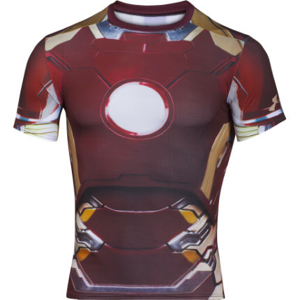 Camiseta de compresión Under Armour Transform Yourself Iron Man