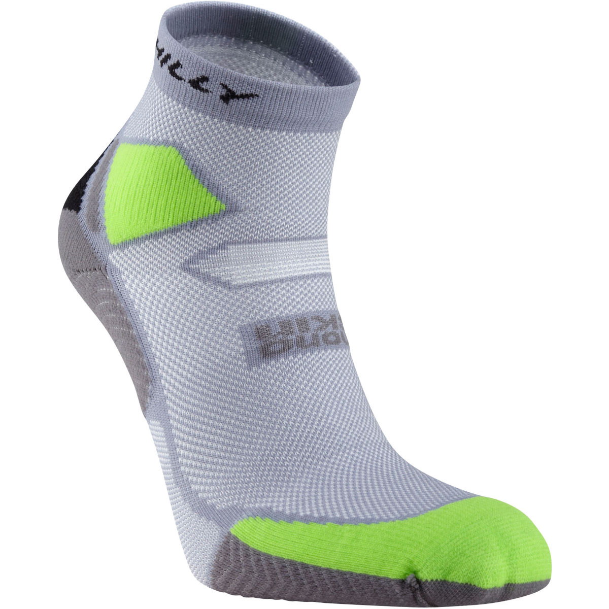 Hilly - Skyline Anklet - S Grey/Lime/Black Chaussettes de running