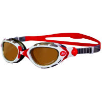 Zoggs Predator Flex Polarized Ultra Goggles - Red/White