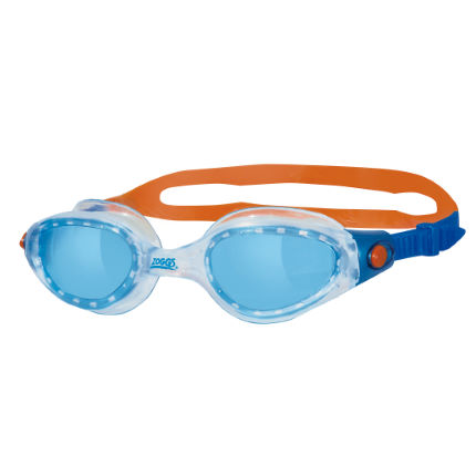 Lunettes de natation Zoggs Phantom Elite (bleues/transparentes/orange)
